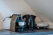 Nespresso coffee machine in a kitchen