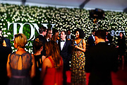 June 10, 2017-New York, New York-United States: The Red Carpet during the 71st Annual Tony Awards Media Room held at Radio City on June 11, 2017 in New York City. The Tony Awards recognize achievement in Broadway productions during the 2016–17 season.  (Photo by Terrence Jennings/terrencejennings.com)