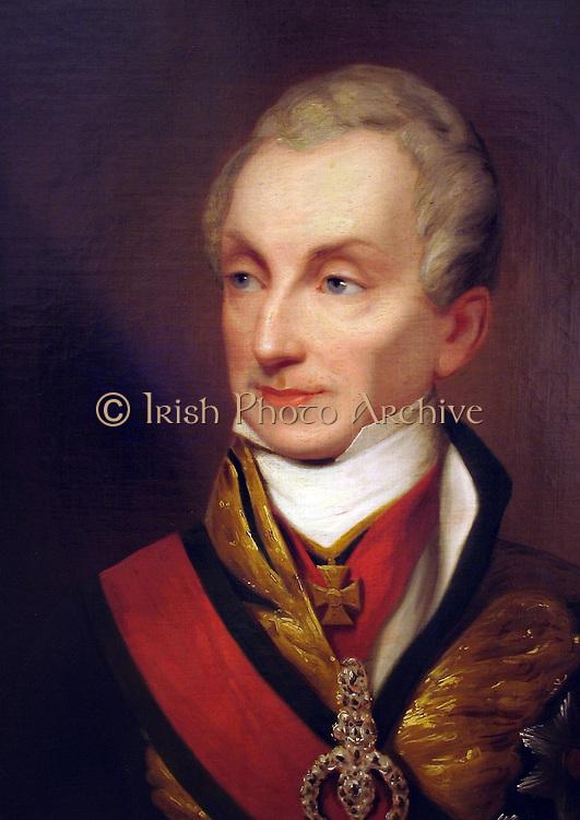 Prince Klemens von Metternich 1773 – 1859. German-born Austrian politician and statesman. Portrait of Prince Metternich  circa 1835