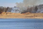 Prescribed Burn at Oak Ridge Waterfowl Production Area in Western Wisconsin
