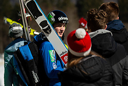 Domen Prevc (SLO) during the Trial Round of the Ski Flying Hill Individual Competition at Day 1 of FIS Ski Jumping World Cup Final 2019, on March 21, 2019 in Planica, Slovenia. Photo by Vid Ponikvar / Sportida