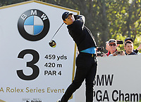 Golf - 2019 BMW PGA Championship - Thursday, First Round<br /> <br /> Rory McIlroy of Ireland tees off at the 3th hole, at the West Course, Wentworth Golf Club.<br /> <br /> COLORSPORT/ANDREW COWIE