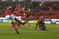 Photo: Richard Lane/Richard Lane Photography. Nottingham Forest v Blackpool. Coca Cola Championship. 13/12/2008. Wes Morgan volleys for goal