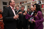MARK ETHERINGTON; FATHER MICHAEL SEED; NANCY DELL D'OLIO, Drinks party given by Basia and Richard Briggs,  Chelsea. London. SW3. 13 February 2014.