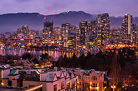 Vancouver Skyline, Evening Illumination
