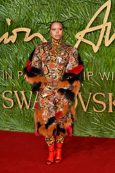 Erykah Badu attending the Fashion Awards 2017, in partnership with Swarovski, held at the Royal Albert Hall, London. Picture Date: Monday 4th December, 2017. Photo credit should read: Matt Crossick/PA Wire