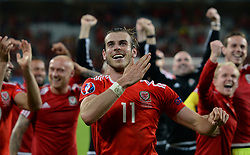 File photo dated 01-07-2016 of Wales' Gareth Bale celebrating after beating Belgium in the UEFA Euro 2016, quarter final match at the Stade Pierre Mauroy, Lille. Issue date: Tuesday June 1, 2021.