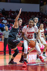 NORMAL, IL - February 27: Sydney Wilson defends a shot by Juliunn Redmond during a college women's basketball game between the ISU Redbirds and the Bears of Missouri State February 27 2020 at Redbird Arena in Normal, IL. (Photo by Alan Look)