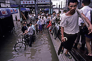 The Yangtze river regularly floods its banks in the summer months, Wuhan city , China