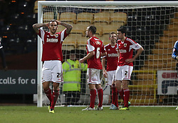 Bristol City's Marlon Pack shows his disappointment at the penalty - Photo mandatory by-line: Matt Bunn/JMP - Tel: Mobile: 07966 386802 21/12/2013 - SPORT - FOOTBALL - Meadow Lane - Nottingham - Notts County v Bristol City - Sky Bet League One