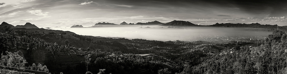 Bandung seen from Punclut, West Java, Indonesia.