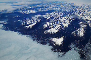 Aerial of southeastern Greenland from an Icelandair commercial jet.
