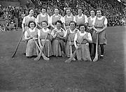 10/08/1952<br /> 08/10/1952<br /> 10 August 1952<br /> Camogie: Senior All Ireland Final, Dublin v Antrim at Croke Park. The Antrim team.