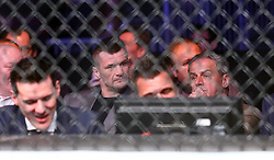 10.04.2016, Arena, Zagreb, CRO, UFC Fight Night, im Bild Cro Cop Mirko Filipovic, mayor of Zagreb Milan Bandic. // during the UFC Fight Night at the Arena in Zagreb, Croatia on 2016/04/10. EXPA Pictures © 2016, PhotoCredit: EXPA/ Pixsell/ Slavko Midzor<br /> <br /> *****ATTENTION - for AUT, SLO, SUI, SWE, ITA, FRA only*****