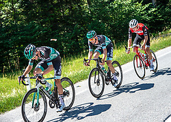 30.06.2019, Mondsee, AUT, Staatsmeisterschaft, Mondsee 5 Seen Radmarathon, im Bild v.l. Patrick Konrad (AUT, Bora - Hansgrohe), Gregor Mühlberger (AUT, Bora - Hansgrohe), Michael Gogl (AUT, Trek - Segafredo) // during the Austrian State Championship 5 lakes cycling marathon. Mondsee, Austria on 2019/06/30. EXPA Pictures © 2019, PhotoCredit: EXPA/ Reinhard Eisenbauer