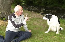 Eddie Sander with his Dogs Jackson and Inka<br /><br />18 June 2004<br /><br />Copyright Paul David Drabble<br /> [#Beginning of Shooting Data Section]<br />Nikon D1 <br /> Focal Length: 24mm<br /> Optimize Image: <br /> Color Mode: <br /> Noise Reduction: <br /> 2004/06/18 10:20:49.3<br /> Exposure Mode: Programmed Auto<br /> White Balance: Auto<br /> Tone Comp: Normal<br /> JPEG (8-bit) Fine<br /> Metering Mode: Multi-Pattern<br /> AF Mode: AF-S<br /> Hue Adjustment: <br /> Image Size:  2000 x 1312<br /> 1/100 sec - F/5<br /> Flash Sync Mode: Front Curtain<br /> Saturation: <br /> Color<br /> Exposure Comp.: 0 EV<br /> Auto Flash Mode: External<br /> Sharpening: Normal<br /> Lens: 17-35mm F/2.8-4<br /> Sensitivity: ISO 200<br /> Image Comment: <br /> [#End of Shooting Data Section]