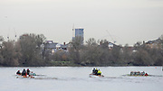 Putney, Greater London. 16th December 2019, Cambridge University Trial Eights, raced over the Championship Course, Putney to Mortlake, River Thames, [Mandatory Credit: Peter SPURRIER/Intersport Images],