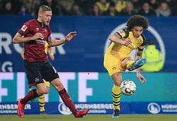 18.02.2019, 22.Spieltag, 1.Bundesliga, 1.FC Nuernberg vs BVB Dortmund, Max Morlock Stadion Nuernberg, Fussball ,Sport im Bild:.. Hanno Behrens ( 1.FC Nuernberg ) vs Axel Witsel (BVB)..DFL REGULATIONS PROHIBIT ANY USE OF PHOTOGRAPHS AS IMAGE SEQUENCES AND / OR QUASI VIDEO...Copyright: Philippe Ruiz..Tel: 089 745 82 22.Handy: 0177 29 39 408.e-Mail: philippe_ruiz@gmx.de (Credit Image: © Philippe Ruiz/Xinhua via ZUMA Wire)