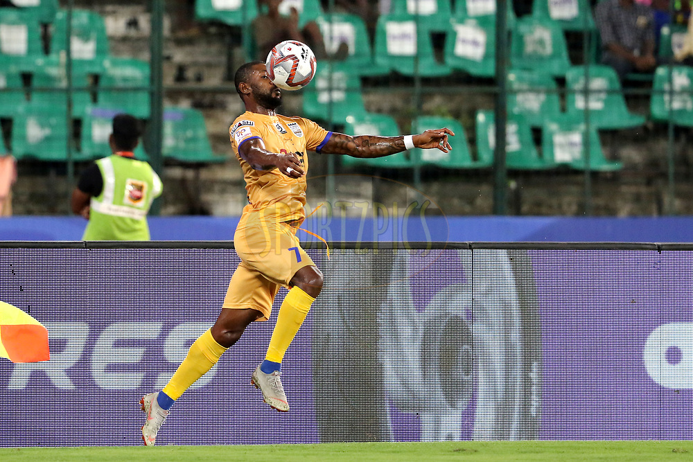 Arnold Issoko of Mumbai City FC in action during match 27 of the Hero Indian Super League 2018 ( ISL ) between Chennaiyin FC  and Mumbai City FC  held at the Jawaharlal Nehru Stadium, Chennai, India on the 3rd November 2018<br /> <br /> Photo by: Vipin Pawar /SPORTZPICS for ISL