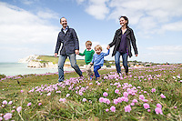 Family portrait shoot at Freshwater Bay on the Isle of Wight.