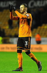 Barry Douglas of Wolverhampton Wanderers thanks fans at the full time whistle  -Mandatory by-line: Nizaam Jones/JMP - 02/01/2018 - FOOTBALL - Molineux - Wolverhampton, England- Wolverhampton Wanderers v Brentford -Sky Bet Championship
