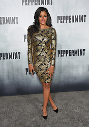 August 28, 2018 - Hollywood, California, U.S. - Claudia Jordan arrives for the premiere of the film 'Peppermint' at the Regal Cinemas LA Live theater. (Credit Image: © Lisa O'Connor/ZUMA Wire)