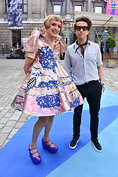 Grayson Perry and Nick Grimshaw at the Royal Academy Of Arts Summer Exhibition Preview Party 2018 held at The Royal Academy, Burlington House, Piccadilly, London, England. 06 June 2018.