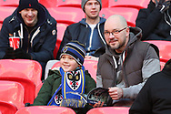 AFC Wimbledon fans during the The FA Cup 3rd round match between Tottenham Hotspur and AFC Wimbledon at Wembley Stadium, London, England on 7 January 2018. Photo by Matthew Redman.