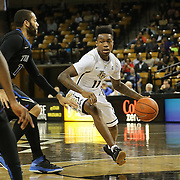 ORLANDO, FL - DECEMBER 31:  Brandon Goodwin #11 of the UCF Knights dribbles the ball during an NCAA basketball game against the Tulsa Golden Hurricane at the CFE Arena on December 31, 2014 in Orlando, Florida. (Photo by Alex Menendez/Getty Images) *** Local Caption *** Brandon Goodwin