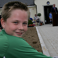 Michael Moriarty takes a seat as the speeches at the opening of the Lees Road Sports Park went on longer than he expected.<br /> <br /> Photograph by Yvonne Vaughan.