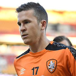 BRISBANE, AUSTRALIA - JANUARY 28: Matt McKay of the Roar warms up during the round 17 Hyundai A-League match between the Brisbane Roar and Western Sydney Wanderers at Suncorp Stadium on January 28, 2017 in Brisbane, Australia. (Photo by Patrick Kearney/Brisbane Roar)