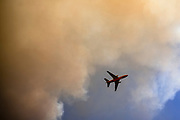 Napa Valley, CA A Super Tanker drops fire retardant on the Glass Fire, which started in the early morning hours, with the hopes of halt it's advance in Napa Valley, CA on September 27, 2020.