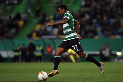 February 14, 2019 - Lisbon, Portugal - Sporting's midfielder Wendel from Brazil in action during the UEFA Europa League Round of 32 First Leg football match Sporting CP vs Villarreal CF at Alvalade stadium in Lisbon, Portugal on February 14, 2019. (Credit Image: © Pedro Fiuza/NurPhoto via ZUMA Press)