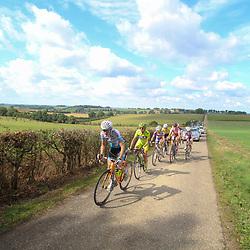 Boels Rental Ladies Tour Bunde-Valkenburg Anna van der Breggen takes the lead on one of the twentie climbs of the day