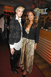 Left to right, AGYNESS DEYN and JADE JAGGER at a party to celebrate the launch of the new Fiat 500 car held at the London Eye, Westminster Bridge Road, London on 21st January 2008.<br /><br />NON EXCLUSIVE - WORLD RIGHTS (EMBARGOED FOR PUBLICATION IN UK MAGAZINES UNTIL 1 MONTH AFTER CREATE DATE AND TIME) www.donfeatures.com  +44 (0) 7092 235465