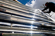Sunaitec solar thermal panels. These intelligent devices use a new design and concept, allowing for tracking the sun and reducing energy waste.