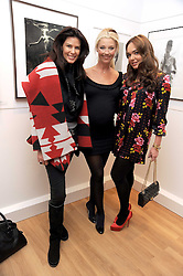 Left to right,CHRISTINA ESTRADA-JUFFALI, TAMARA BECKWITH and TAMARA ECCLESTONE at a private view of 'Most Wanted' an exhibition of photographs held at The Little Black Gallery, Park Walk, London on 27th November 2008.