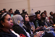 NEW YORK, NY-NOVEMBER 16: Audience attends 'Between The Lines' series featuring Music Producer Timbaland new book ' The Emperor of Sound' held at the The Schomburg Center for Research in Black Culture on November 16, 2015 in Harlem, New York City.  (Photo Terrence Jennings/terrencejennings.com)