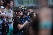 MoMA PS1's outdoor series which runs on Saturdays in the summer with experimental live music, sound, performance, and DJs is held in its courtyard.