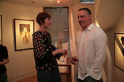 Erin O'Connor and Mark Demsteader, Private View of 'Icon' - life drawings of Erin O'Connor by   Mark Demsteader. Panter & Hall, 9 Shepherd Market, London 17 April 2007.  -DO NOT ARCHIVE-© Copyright Photograph by Dafydd Jones. 248 Clapham Rd. London SW9 0PZ. Tel 0207 820 0771. www.dafjones.com.