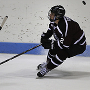 Jeff Taylor, Union College, in action during the Yale Vs Union College, Men's College Ice Hockey game at Ingalls Rink, New Haven, Connecticut, USA. 28th February 2014. Photo Tim Clayton