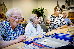 Queen Maxima of The Netherlands visits iZi Gezond Lang Thuis and Haags Ontmoeten care institutions in The Hague, The Netherlands, 1 June 2018. Theme of the visits are innovation in elderly policies and elderly care in The Hague. Photo by Robin Utrecht/ABACAPRESS.COM