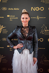 Indira Ekic during SPINS XI Nogometna Gala 2019 event when presented best football players of Prva liga Telekom Slovenije in season 2018/19, on May 19, 2019 in Slovene National Theatre Opera and Ballet Ljubljana, Slovenia. ,Photo by Urban Meglic / Sportida