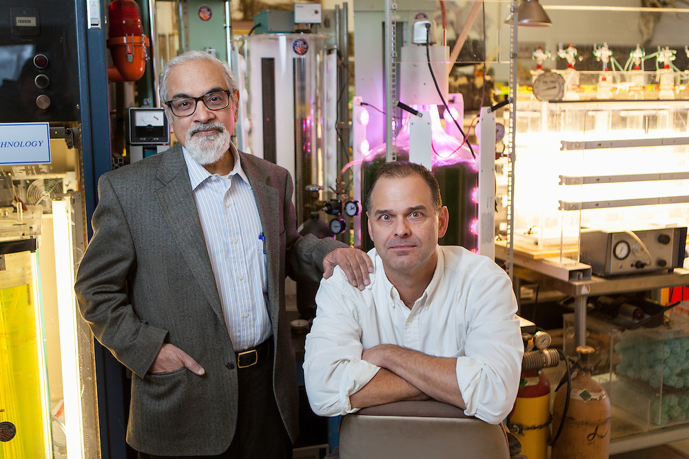 Portraits of Dr. Krishan Chawla and Dr. Gary Gladsz, authors of the book Voids in Materials: From Unavoidable Defects to Designed Cellular Materials.
