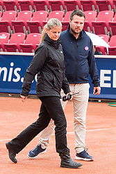 Mariana Alves, WTA Chief Supervisor, and Christian Rask (Chair Umpire) at the 2017 WTA Ericsson Open in Båstad, Sweden, July 29, 2017. Photo Credit: Katja Boll/EVENTMEDIA.