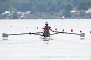 Poznan. Poland. GBR LW1X, Imogen WALSH. FISA 2015 European Rowing Championships. Venue Lake Malta. 29.05.2015. [Mandatory Credit: Peter Spurrier/Intersport-images.com] .   Empacher.