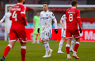 Leeds United forward Sam Greenwood (42)  during the The FA Cup match between Crawley Town and Leeds United at The People's Pension Stadium, Crawley, England on 10 January 2021.