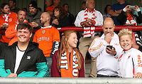 Blackpool fans before the kick off<br /> <br /> Photographer Stephen White/CameraSport<br /> <br /> Football - The EFL Sky Bet League Two - Morecambe v Blackpool - Saturday 13th August 2016 - Globe arena - Morecambe<br /> <br /> World Copyright © 2016 CameraSport. All rights reserved. 43 Linden Ave. Countesthorpe. Leicester. England. LE8 5PG - Tel: +44 (0) 116 277 4147 - admin@camerasport.com - www.camerasport.com<br /> <br /> Photographer Stephen White/CameraSport<br /> <br /> Football - The EFL Sky Bet League Two - Morecambe v Blackpool - Saturday 13th August 2016 - Globe arena - Morecambe<br /> <br /> World Copyright © 2016 CameraSport. All rights reserved. 43 Linden Ave. Countesthorpe. Leicester. England. LE8 5PG - Tel: +44 (0) 116 277 4147 - admin@camerasport.com - www.camerasport.com