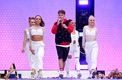 HRVY on stage during Capital's Summertime Ball. The world's biggest stars perform live for 80,000 Capital listeners at Wembley Stadium at the UK's biggest summer party.