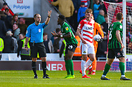 Bright Enobakhare of Coventry City (24) appeals a disallowed goal during the EFL Sky Bet League 1 match between Doncaster Rovers and Coventry City at the Keepmoat Stadium, Doncaster, England on 4 May 2019.